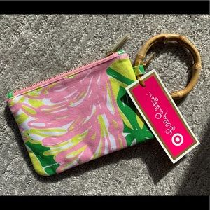 NWT Lilly Pulitzer bamboo zip wristlet